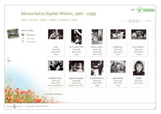 Memorial website tribute features - Adding photos, music and video